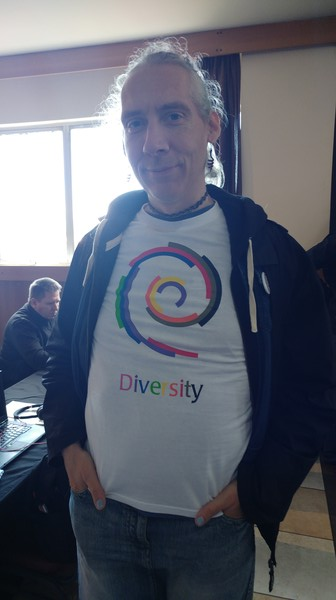 Rhonda modelling our diversity T!